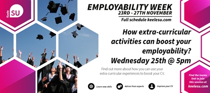Employability Week 2020 - How extra-curricular activities can boost your employability?