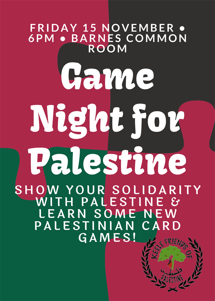 Game Night for Palestine