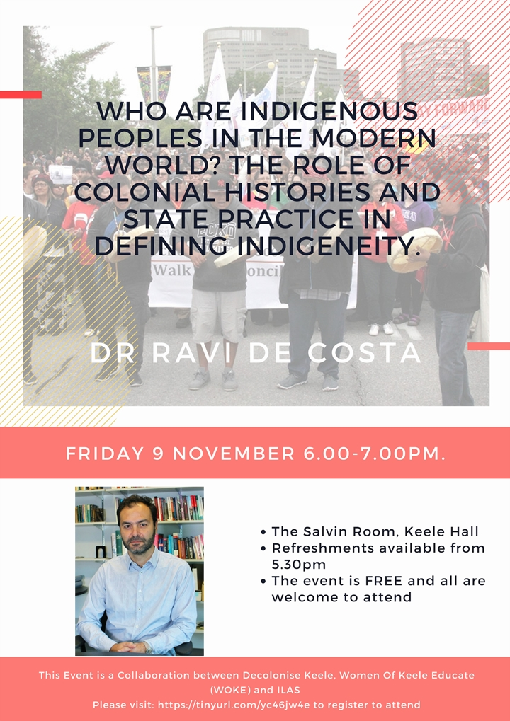 Free Keele Hall Event - Who Are Indigenous Peoples in the Modern Word?