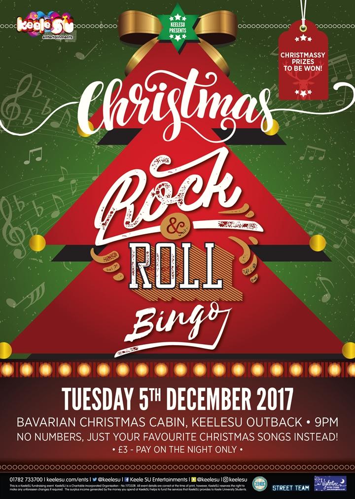 Rock n Roll Christmas Bingo