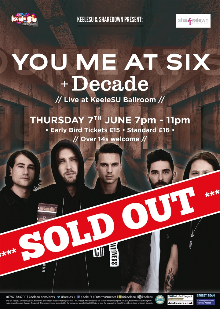 You Me At Six live at KeeleSU  **SOLD OUT**