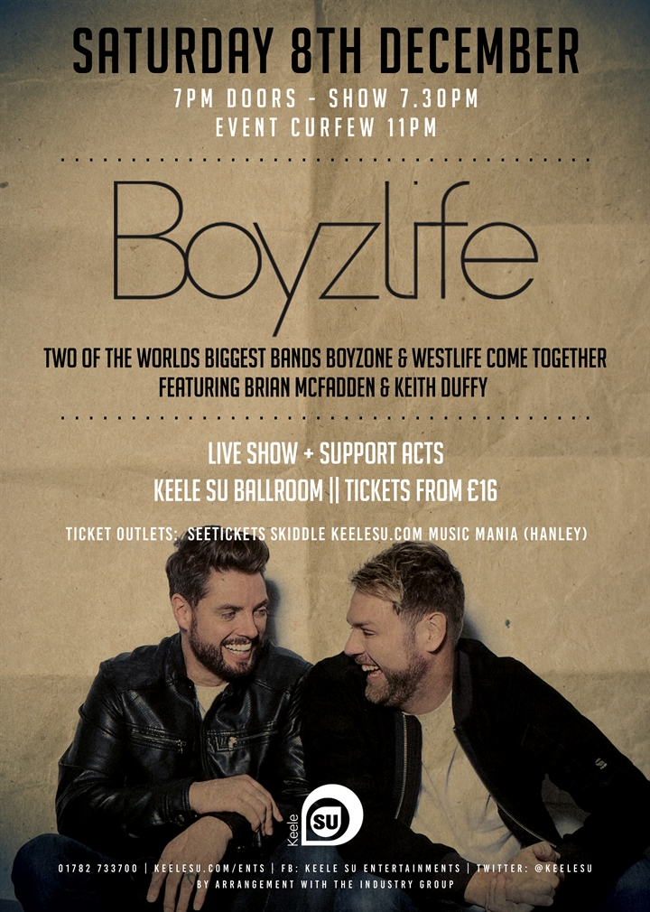 Boyzlife live at KeeleSU