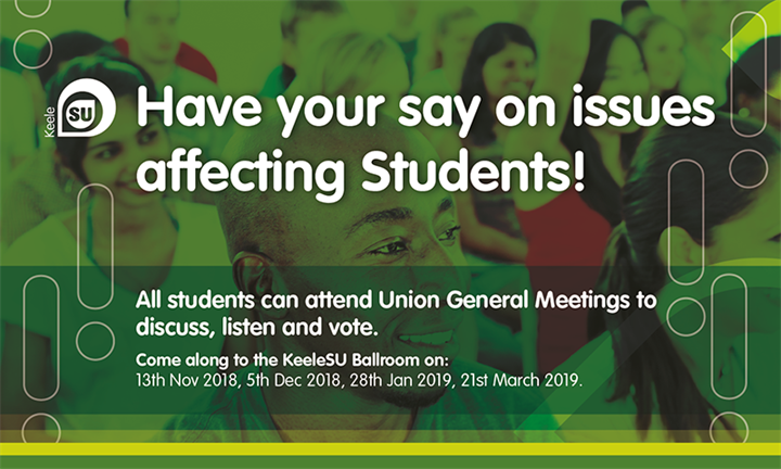 Union General Meeting - Have your say!