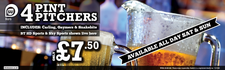 4 pint pitchers only £7.50
