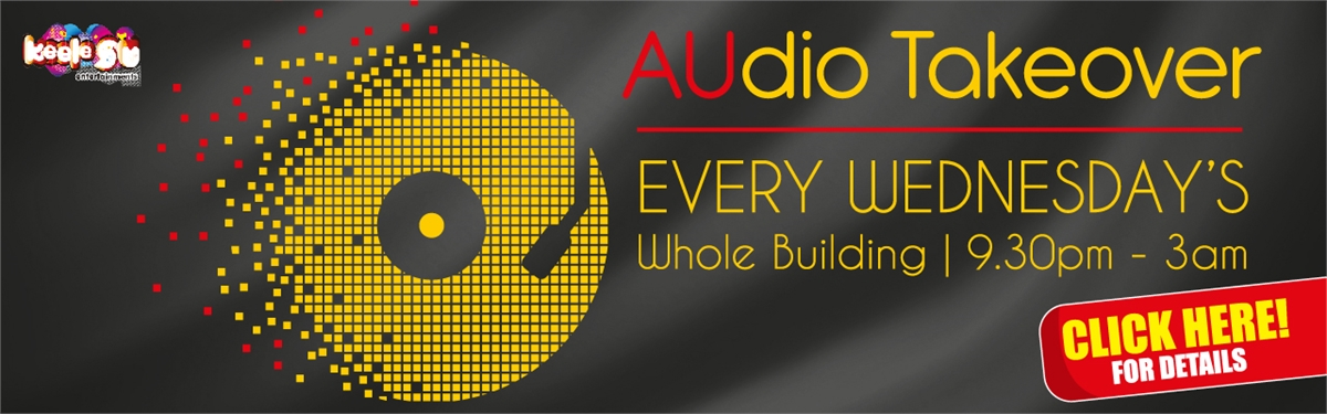 Banner: Audio takeover every wednesday