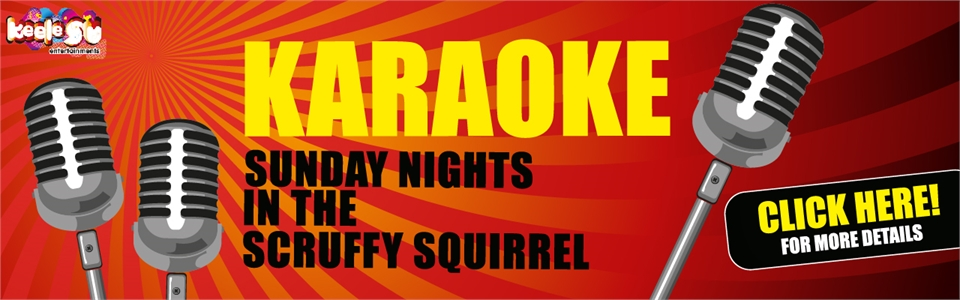 Banner: Karaoke every Sunday