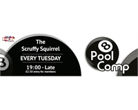Banner: Pool Comp every Tuesday £2.50 entry for members