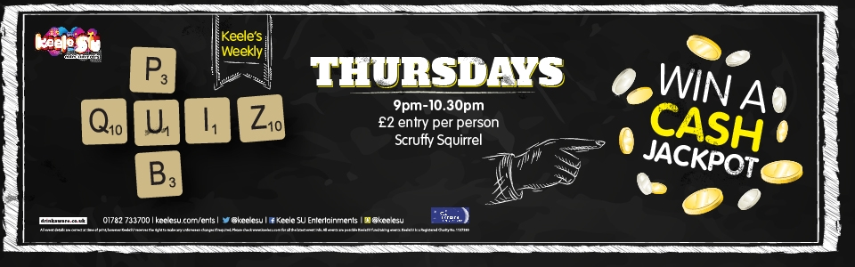 Pub Quiz Thursday 9pm - 10.30pm