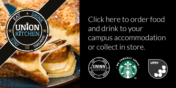 Click here to order food and drink to your campus accomodation or collect in store