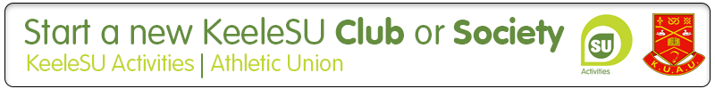 Click here to start a new KeeleSU Club or Society