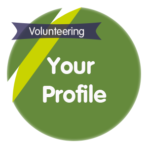 "Click here for ""your volunteering profile"""