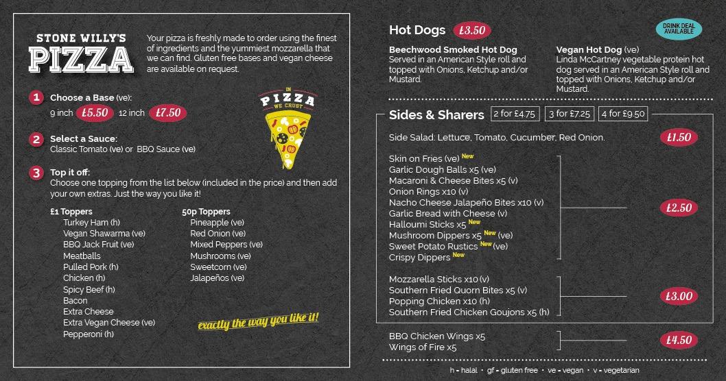 Food and drink menu page 4
