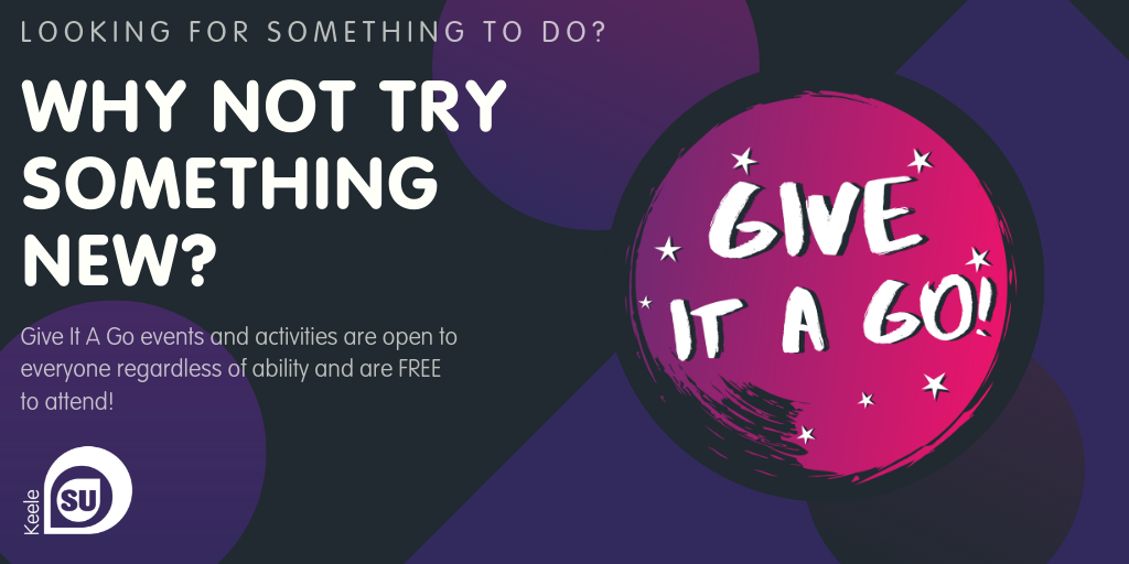 Looking for something to do? Why not try something new? Give it a Go events and activities are open to everyone regardless of ability and are FREE to attend!