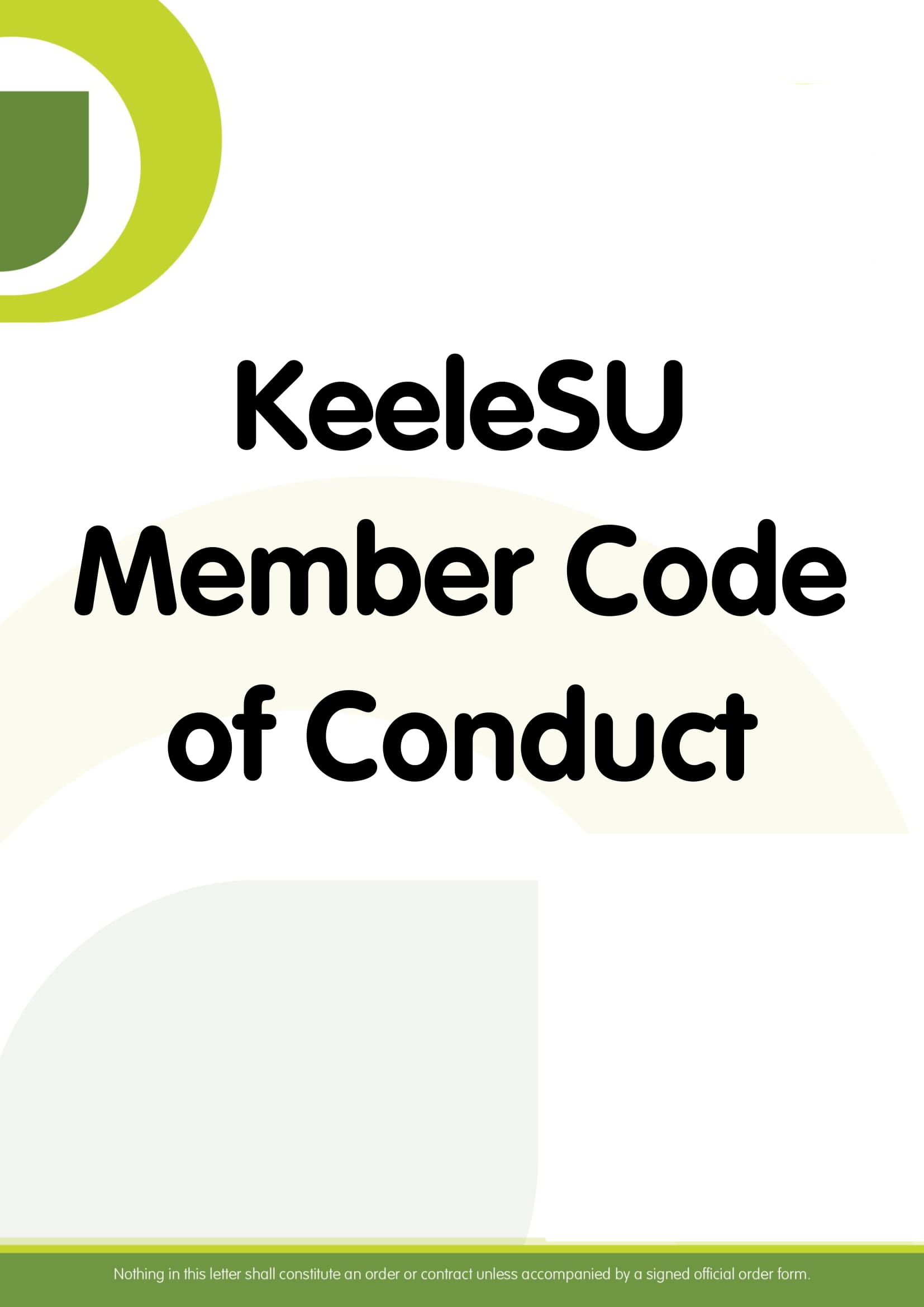 KeeleSU Member Code of Conduct