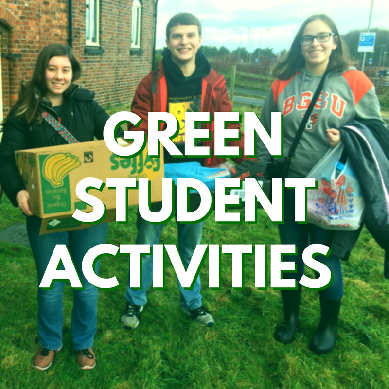 Photo of students involved in green activities