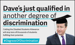 Image: Dave's jsut qualified in another degree of discrimination