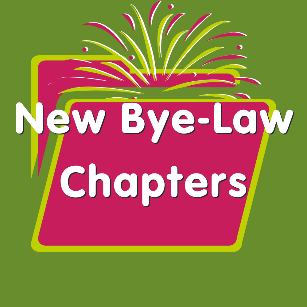 New Bye-Law Chapters