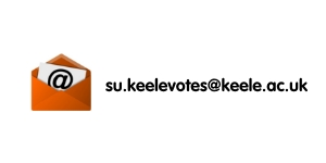 email address reads su.keelevotes@keele.ac.uk